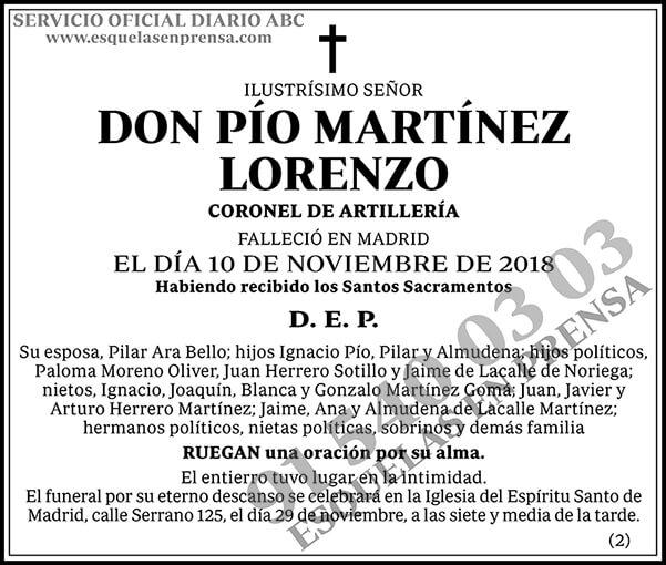 Pío Martínez Lorenzo